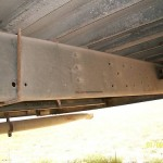 Underside of bus, rear.